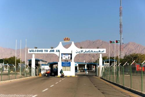 Crossing from Israel into Jordan
