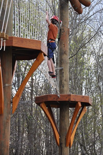 Benton on the ropes course