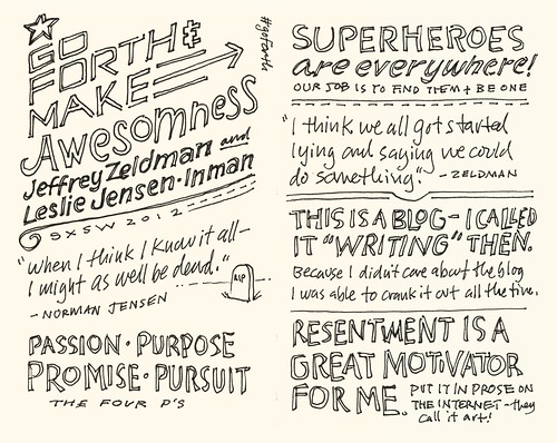 SXSW 2012 Sketchnotes: 17-18 Go Forth and Make Awesomeness!