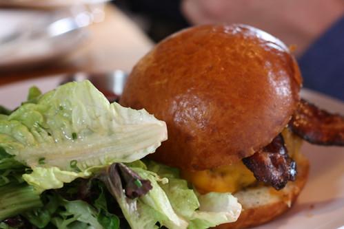 Slagel Family Farms Burger, Aged Widmer's Cheddar, Neuske's Bacon, Brioche Bun