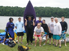 The kayaking group