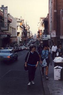 Grant Av near California St, San Francisco, 1988
