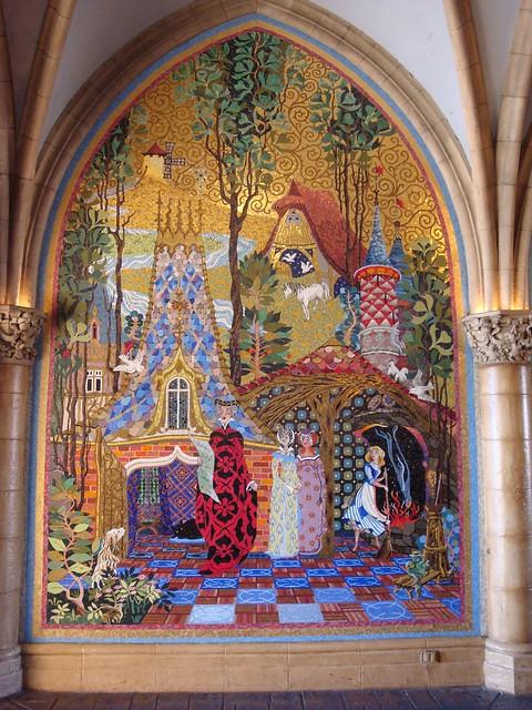 Mosaic mural inside the cinderella castle flickr for Disney castle mural
