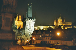 Prague, Mala Strana Bridge Tower and St Vitus Cathedral