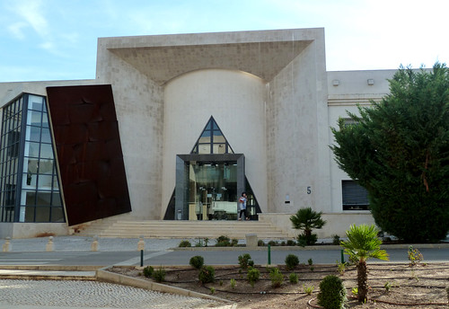 A city of fascinating architecture- Faro's university library.