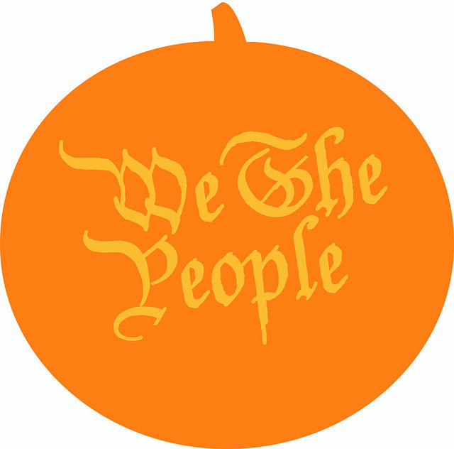 "We The People"" jack-o'-lantern template 