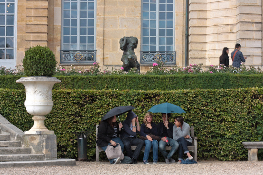 some drizzle at Musee Rodin