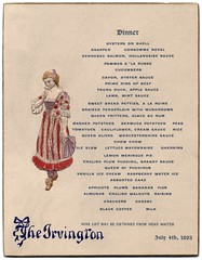 Dinner Menu, The Irvington, Atlantic City, N.J., July 4, 1893