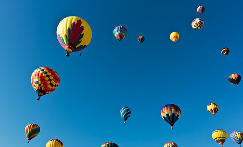 Soaring Group of balloons