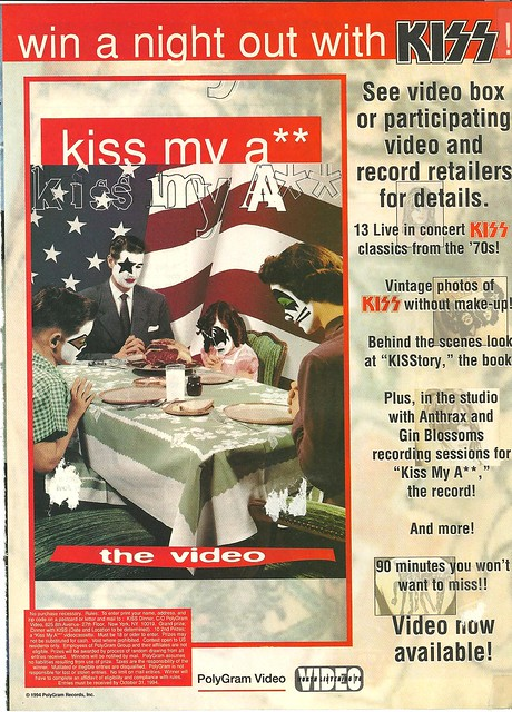 August 1994 Hit Parader Magazine (Kiss Contest)