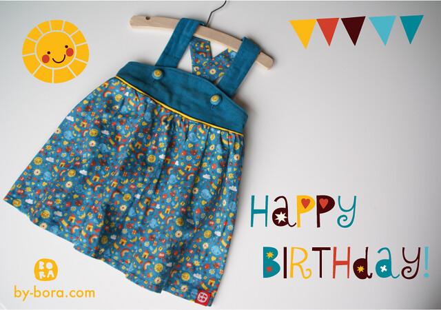 Birthday dress with ditsy print