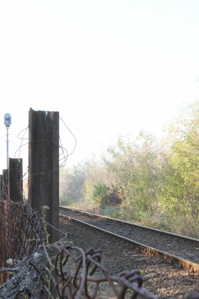 Vías del tren en Hortobágy