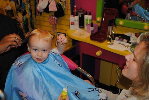 Blaise First Haircut