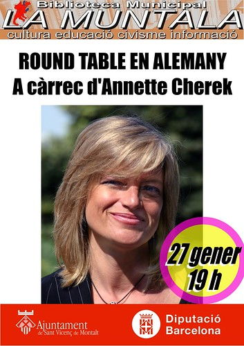 Round table en alemany, a càrrec d'Annette Cherek 27 gener 19 h by bibliotecalamuntala