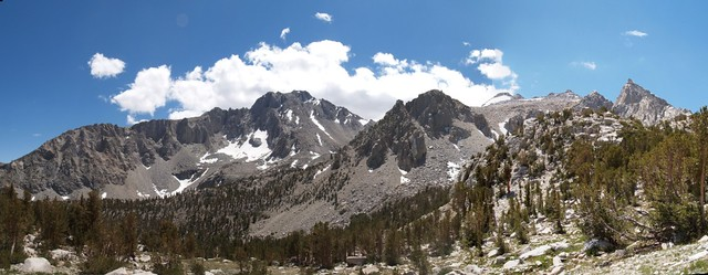 Panorama looking south toward University Peak