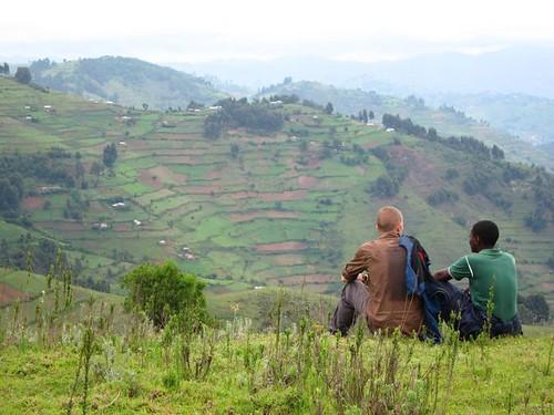 hiking rural uganda