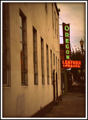Oregon Leather Company - lit neon