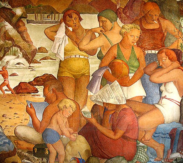 Wpa mural san francisco flickr photo sharing for Diego rivera mural chicago