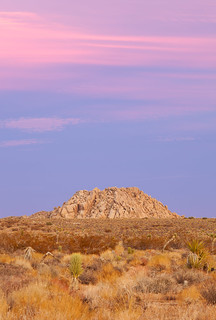 Rocks and Sunset in the Mojave Desert