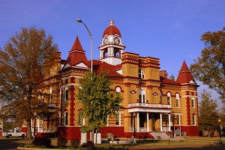 Gibson County Courthouse corner view - Trenton, TN
