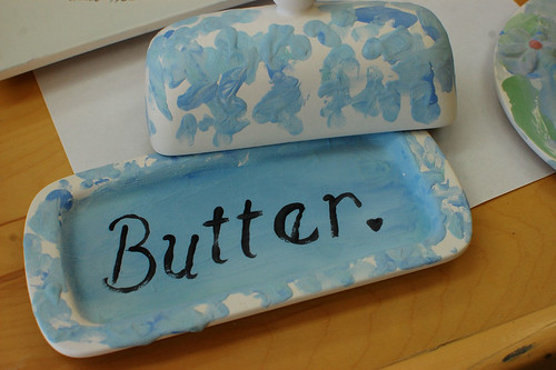 unfired butter dish