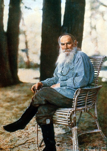 only known color photo of Leo Tolstoy