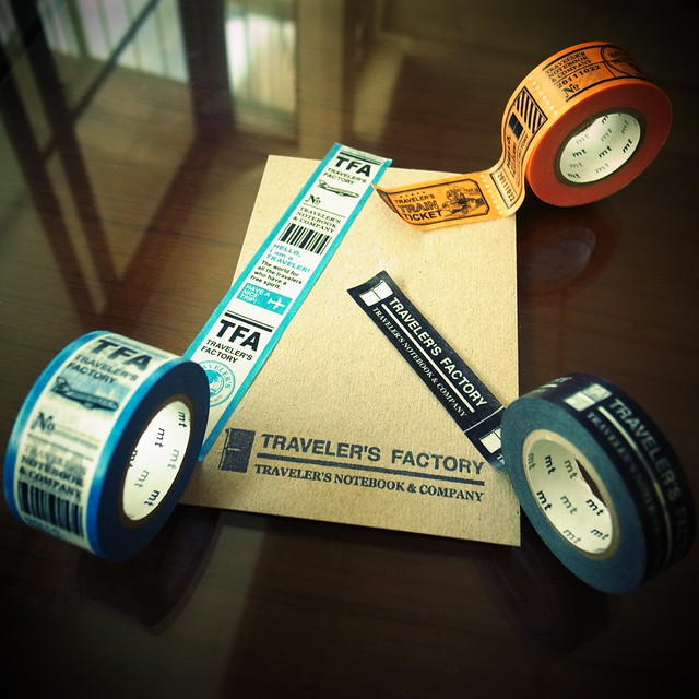 Currently available masking tapes of TRAVELER'S FACTORY