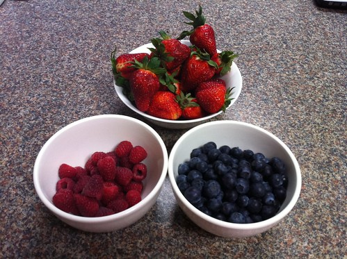 selected berries