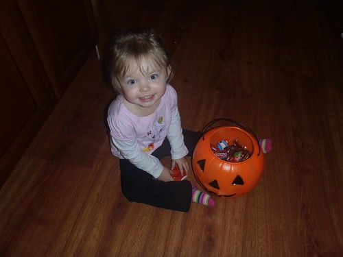 Lilah and her pumpkin :-)