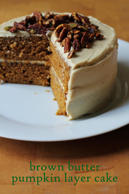 Pumpkin Layer Cake With Pecans