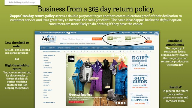 Business from a 365 day return policy