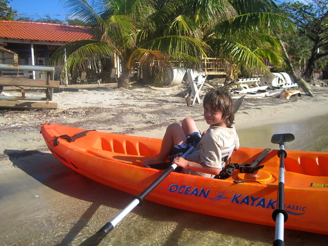 kayak for kids roatan honduras