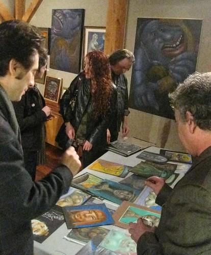Table of art: Gary Ivan's work on display