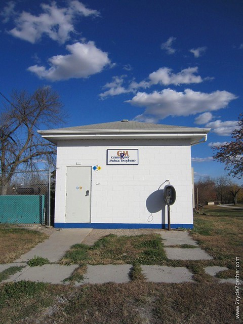 Graham, MO - Telephone building with pay phone that still worked.