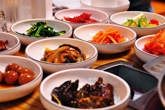 Banchan (Korean side dishes), Saenggeo, Jincheon Hwarang table d'hote