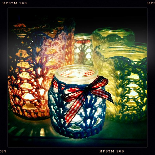 Crochet Votives by CocoRose1