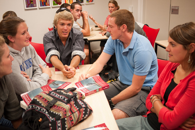 Group discussions in the classroom at UCT