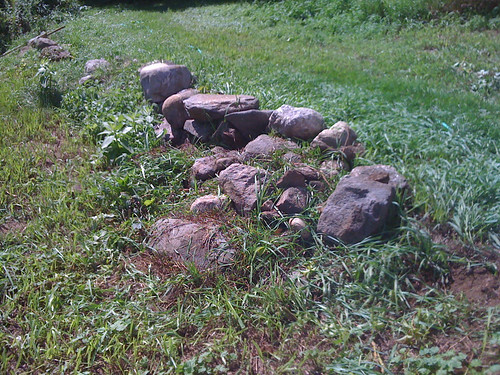 stone wall: before