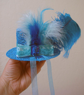 Turquoise Fascinator hat for Julie