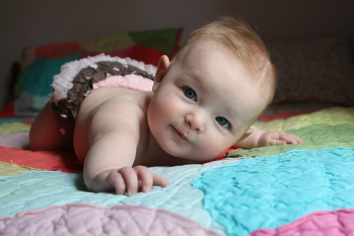 Hey-oh! Charlotte at five months