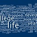 Wordle of Steve Jobs' famous 2005 Stanford Commencement Address.