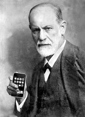Sigmund Freud and an iPhone