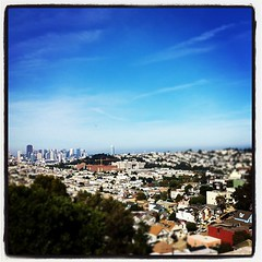 The City as viewed from Bernal Hill