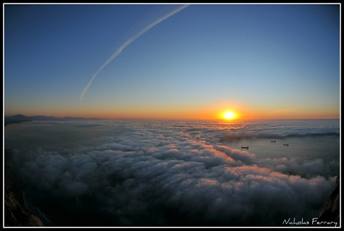 blue sea sky sun mist nature fog clouds landscape dawn nikon wildlife gibraltar animalplanet d300s nikond300s nicholasferrary