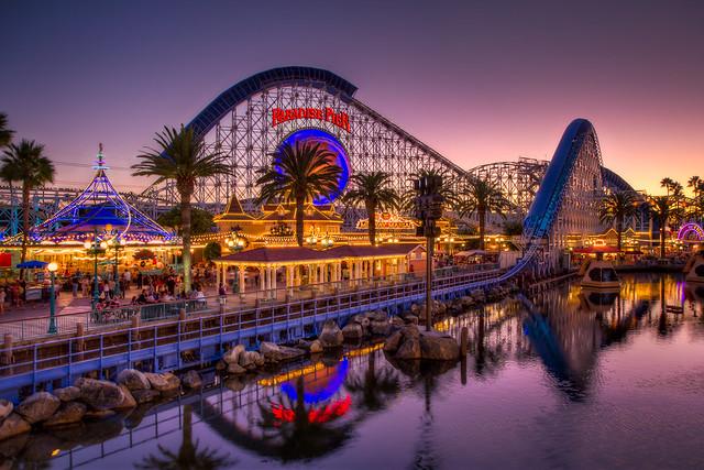 Paradise Pier At Dusk Flickr Photo Sharing
