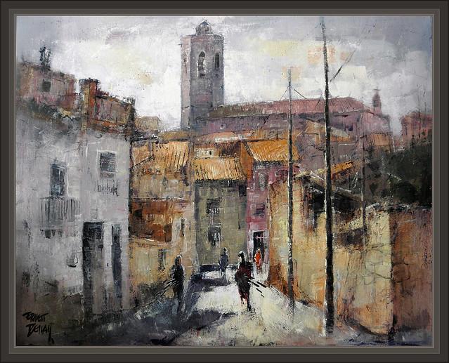 Bellpuig urgell lleida paisajes iglesia pintura premios - Pintores en lleida ...