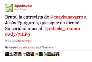 Twitter de Jordi Evole