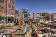 LRT construction 4th street E