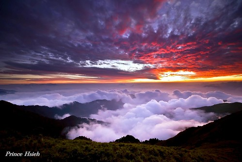 合歡山 - 合歡夕彩 - After Sunset of HeHuan Mountain