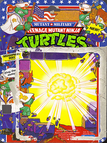Mutant Military  TEENAGE MUTANT NINJA TURTLES ::  MIDSHIPMAN MIKE ..card backer i (( 1991 ))